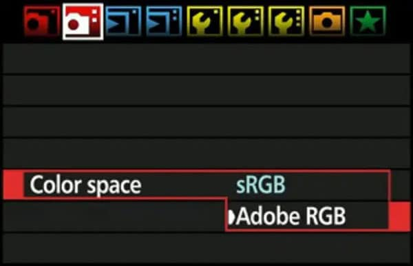 setting camera color space to srgb