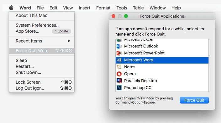 force-quit-word-from-apple-menu