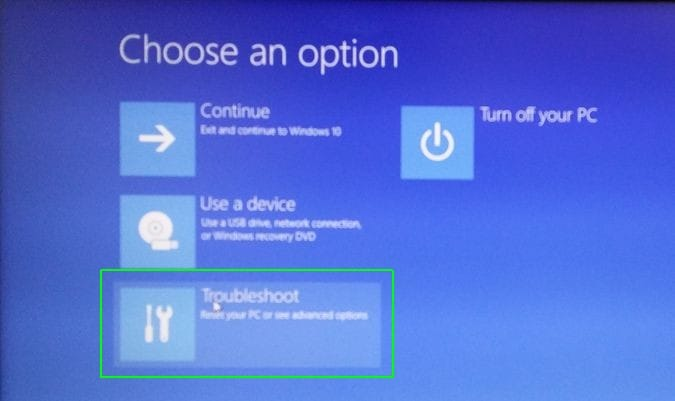 come risolvere errore di volume unmountable boot in windows 10