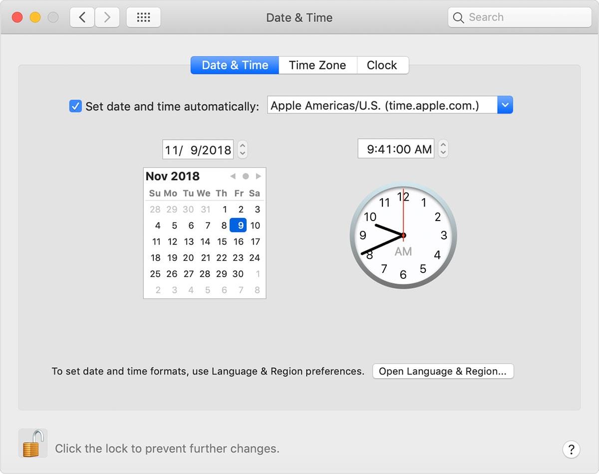 mac-date-time