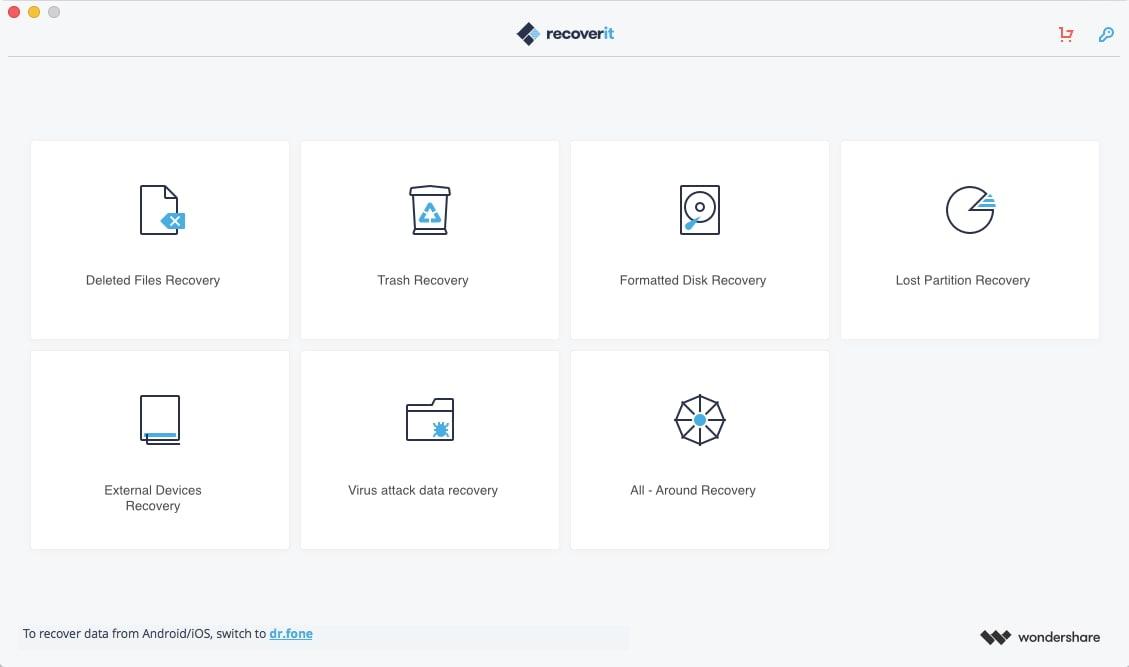 Wählen Sie einen Wiederherstellungs-Modus um die gelöschte iMovie-Datei wiederherzustellen