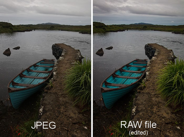 use raw for more detailed shots
