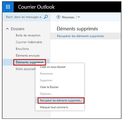 recuperar emails apagados em outlook
