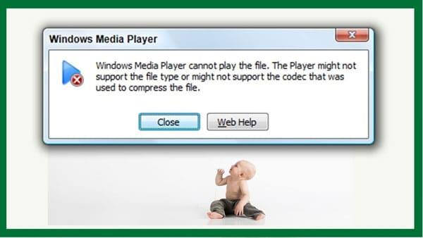 wrong codecs error pic