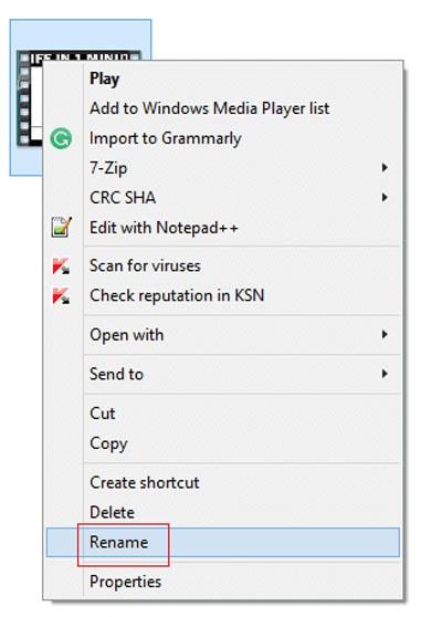 vlc video repair rename file