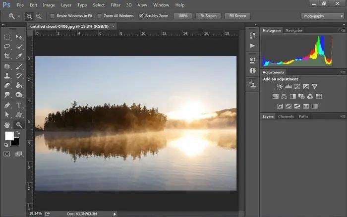 using photoshop repair