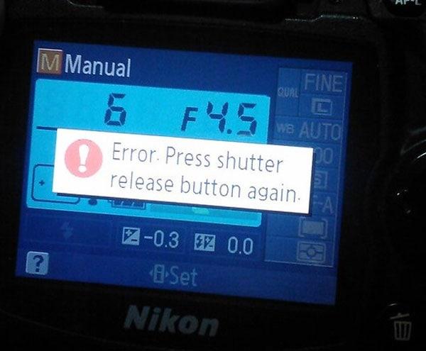 shutter release error