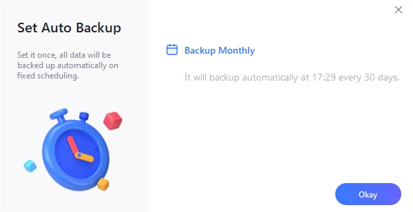 monthly backup