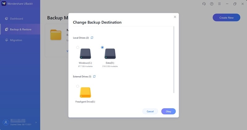 cambiar el canal de descarga