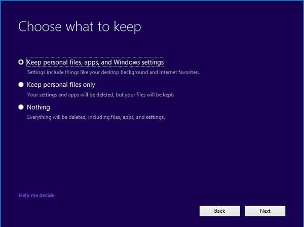 Asistente de creación de medios de Windows