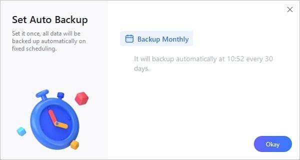 copia de seguridad mensual