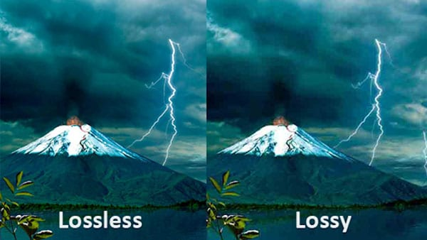 difference between lossy and lossless