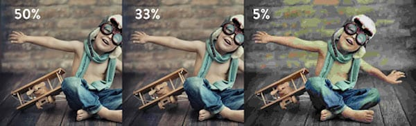 degree of image compression