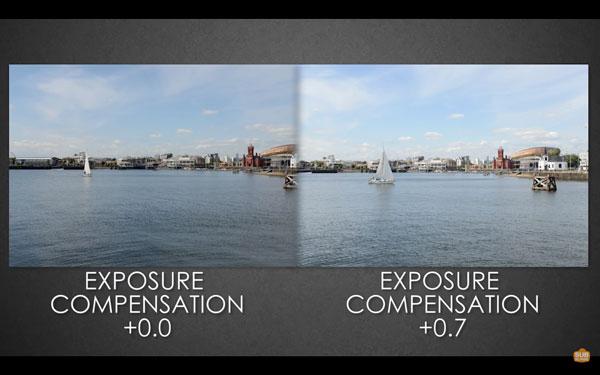 change exposure compensation