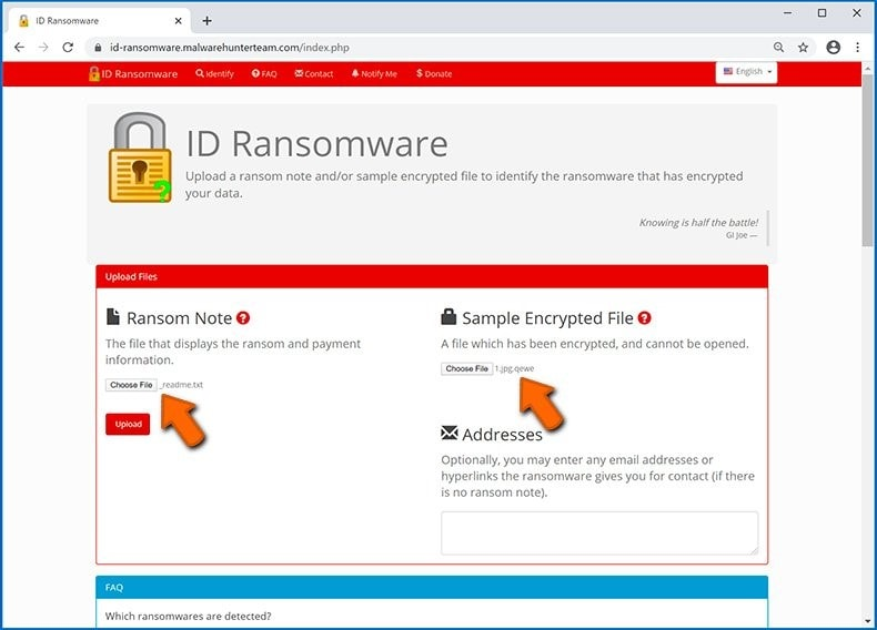 using ransomware website