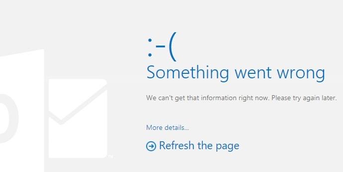 MS Outlook Error