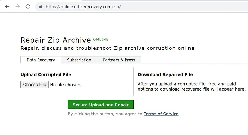 Online Office Recovery Load Zip