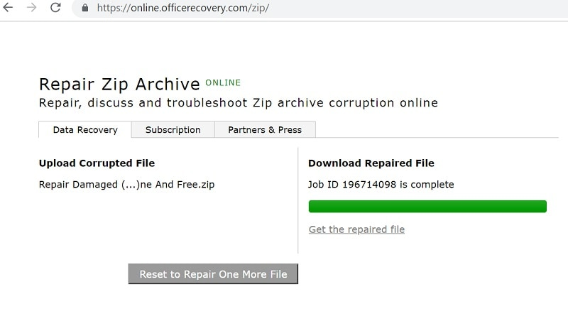Online Office Recovery Zip Repaired