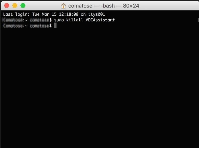 vdc assistant on mac