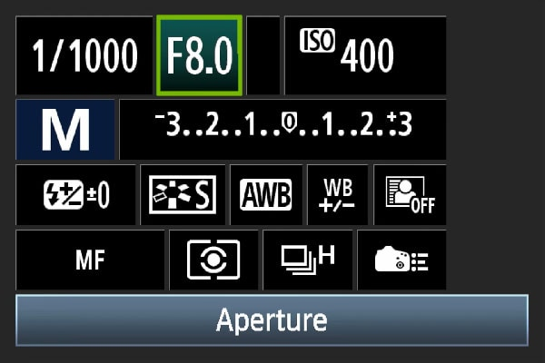 reset your aperture setting manually