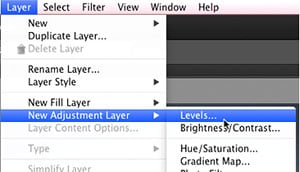 use photoshop to create a new adjustment layer