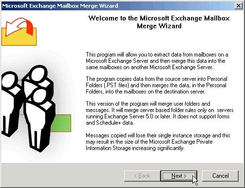 Exchange Mailbox Merger Wizard
