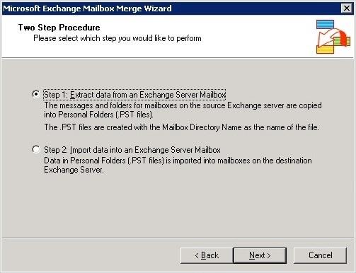 Exchange Mailbox Merger Extract Data