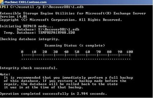 Eseutil Utility Command for Exchange