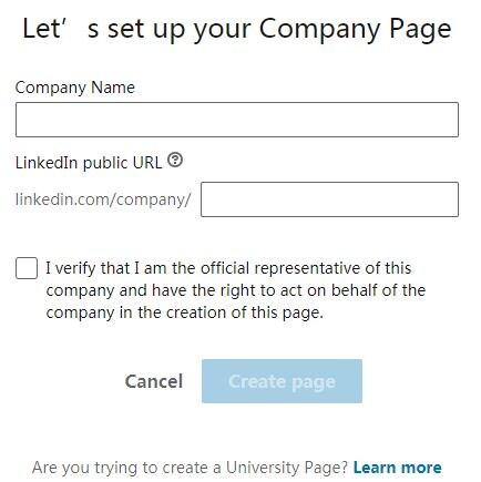 setup company page