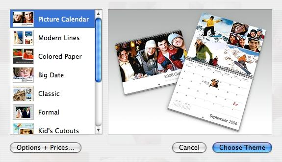 Iphoto calendar how to make photo calendar with iphoto on mac for Iphoto calendar templates