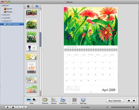 iphoto calendar how to make photo calendar with iphoto on mac