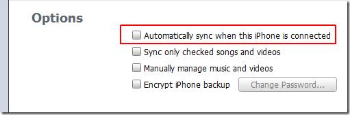 accéler votre iTunes - Désactiver la synchronisation automatique d'iTunes