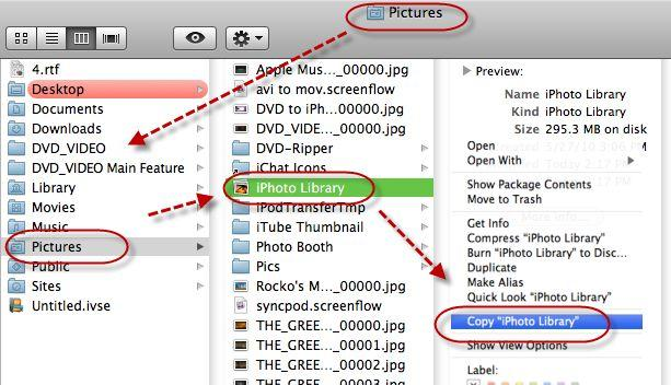 backup iphoto to hard drive