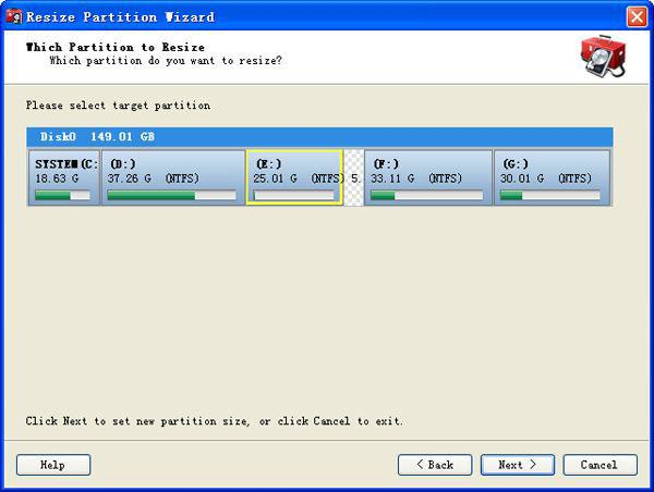 diviser la partition de windows 7
