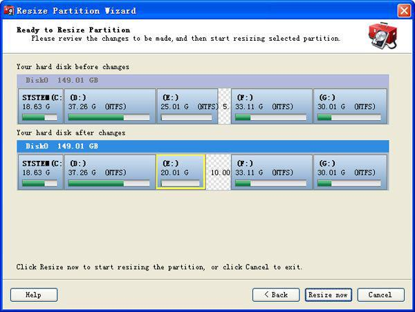 split partition windows xp