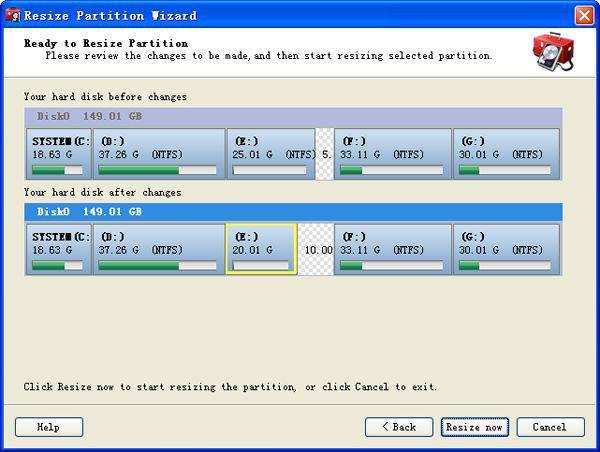 Diviser la partition de windows xp