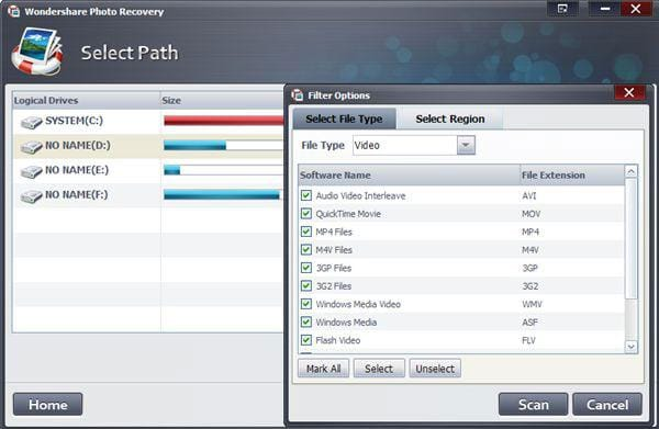 recover MPG files