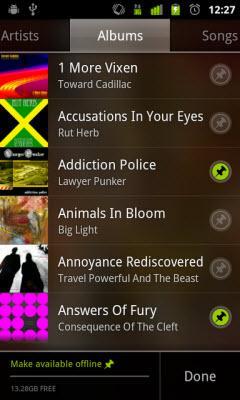 play google music offline