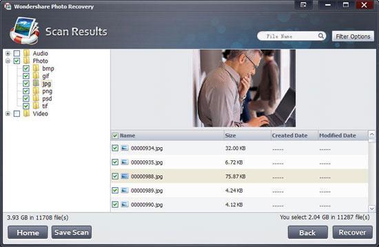 Software de recuperação de imagens