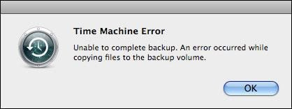 time machine failure