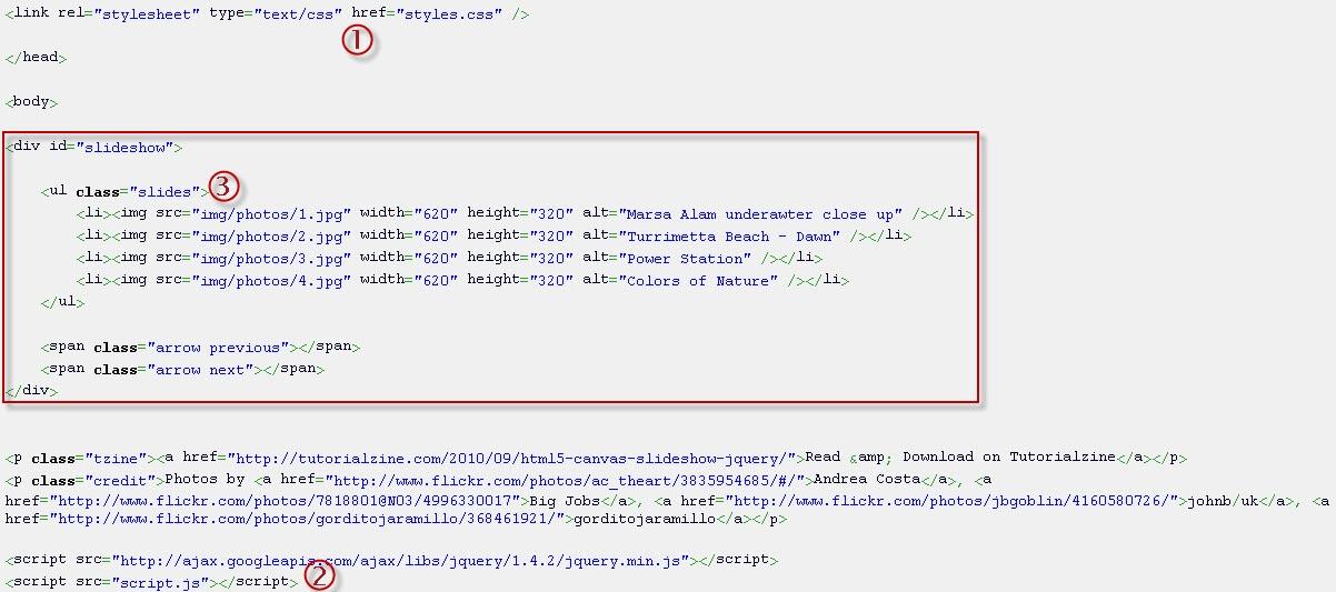 how to make an html5 slideshow