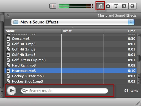 choose imovie sound effects