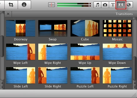 transition pour imovie