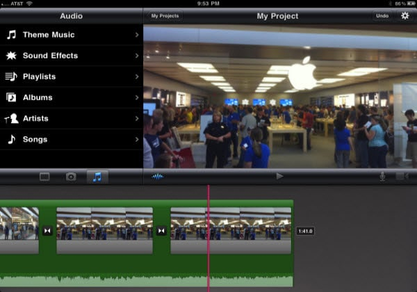 how to use precision editor in imovie