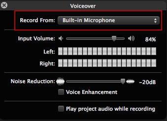 VoiceOver in iMovie aufnehmen