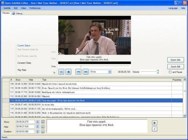 Untertitel Programm