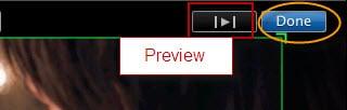 Vorschau und Speichern von geschnittenen iMovie Video