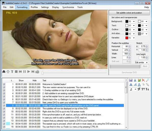 SubtitleCreator Untertitel Programm