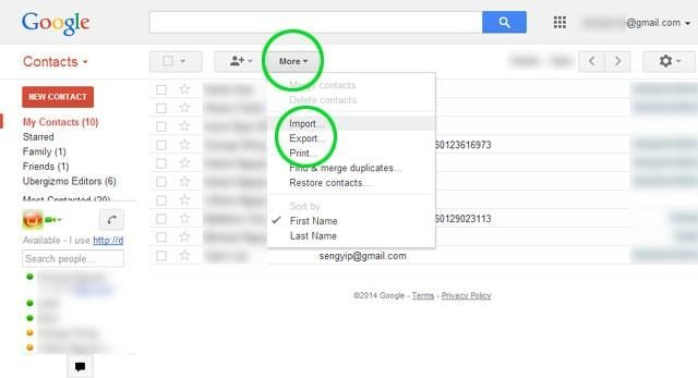 IPhone Transfer Contatti per Android Gmail