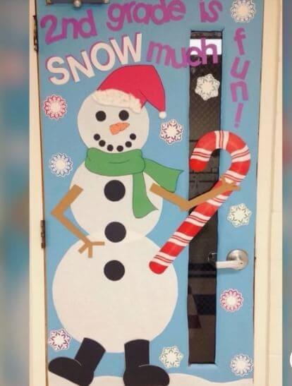 Snowman Classroom Door